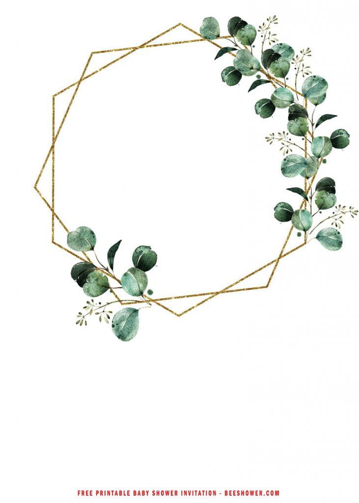 Free Printable Eucalyptus Wedding Invitation Templates With Magnificent Eucalyptus Flowers