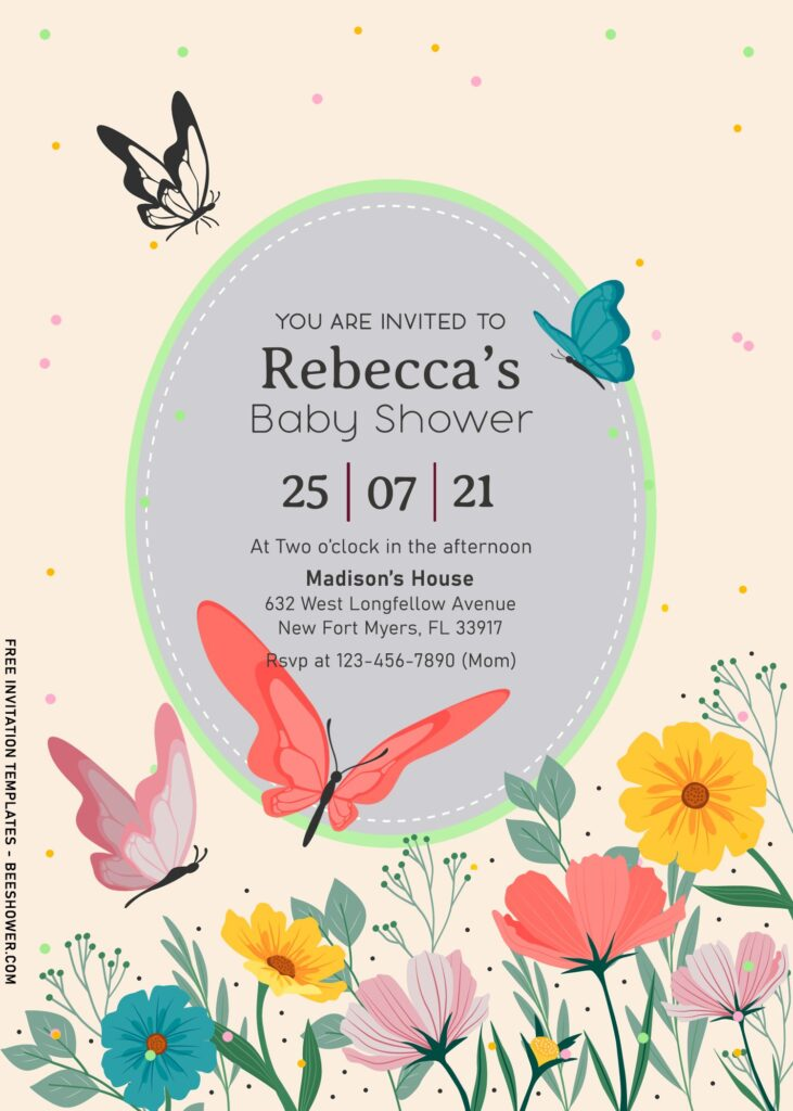 8+ Floral And Butterfly Birthday Invitation Templates For Kids